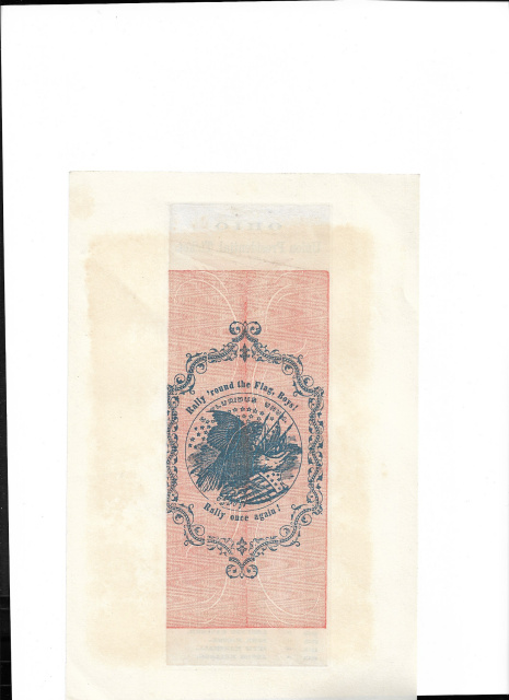 ORIGINAL COLORED A LINCOLN ELECTION TICKET