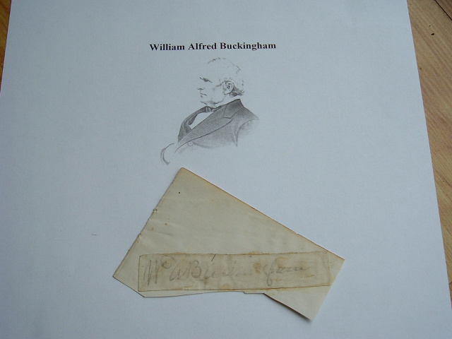 AUTOGRAPH WILLIAM A BUCKINGHAM