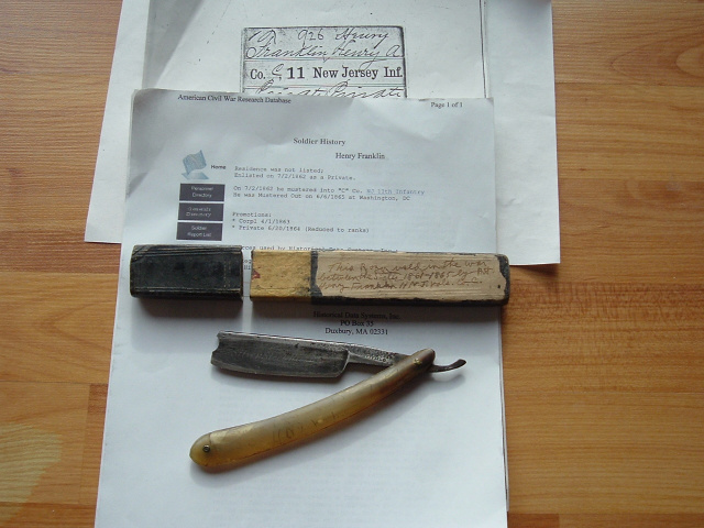 "IDENTIFIED ""GLORY TO LINCOLN"" RAZOR"