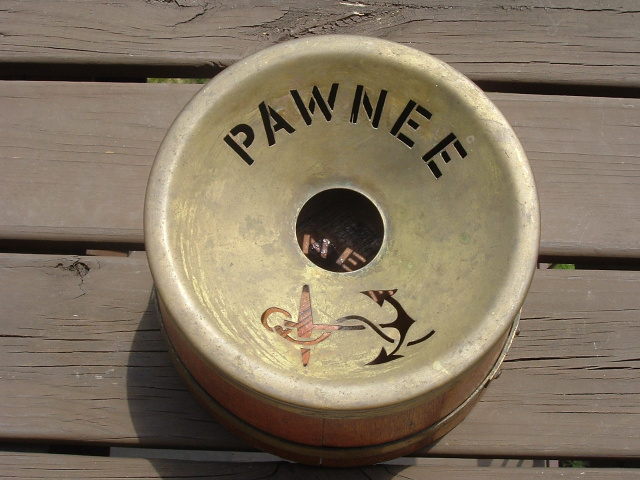 "HISTORIC SPITOON FROM THE USS ""PAWNEE"""